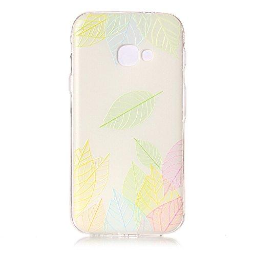 Samsung Galaxy Xcover 4 (SM-G390F) Hülle [Kratzfeste, Scratch-Resistant], Cozy Hut [Liquid Crystal] Ultra Dünn [Crystal Clear] Sehr Leicht / Perfekte Passform / Durchsichtiges Soft-Case Schutzhülle für Samsung Galaxy Xcover 4 (SM-G390F) - Baumblatt