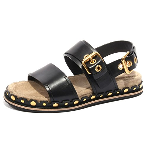 B2426 sandalo donna CAR SHOE scarpa nero borchie shoe flip flop woman [37]