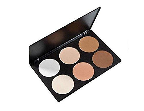 Professional visage Maquillage Lot de 6 Couleur Cosmetics Blush Palette, 6 pièces Contour et blush Palette, Anti-cernes Palette de maquillage Blush, visage, contour Make Up Lot de F