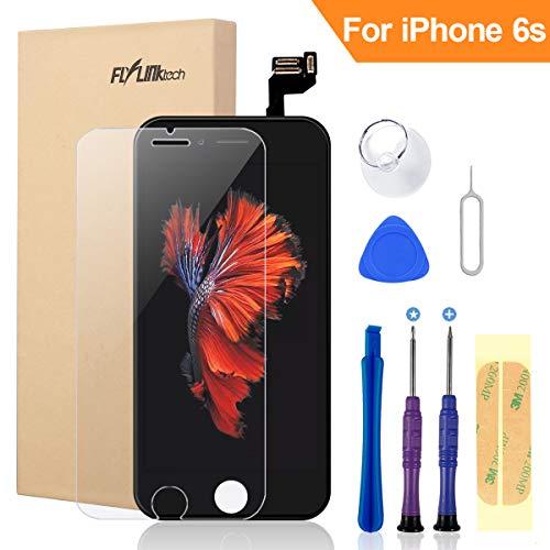 Flylinktech iPhone 6S Display Schwarz LCD Touchscreen Digitizer Ersatz Bildschirm Front Komplettes Glas mit Werkzeuge Für iPhone 6S Schwarz 4.7