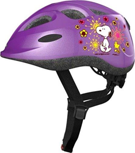 Abus Fahrradhelm Kinderhelm SMILEY PEANUTS flower purble 45-50 cm