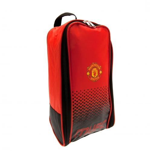 Manchester Man Utd United FC Football Boots Bag Red Black Fade Design Official