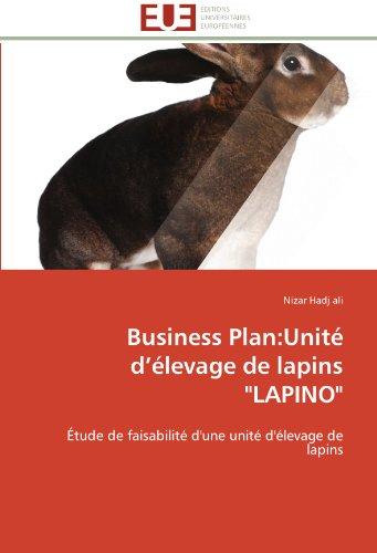Business plan: unité d élevage de lapins