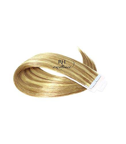 Extension a bande adhésive - Extension cheveux Blond Trés clair méché - 35/40 cm