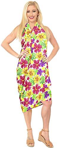 LA LEELA Taille Plus des Femmes Bikini Beachwear de Bain Couvrir Sarong Robe Maillot de Bain Jupe paréo Wrap