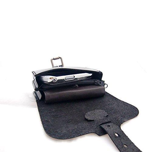 StreetRIDER® Motocicleta Bolso Bolsa Riñonera de Cintura cuero (negro)