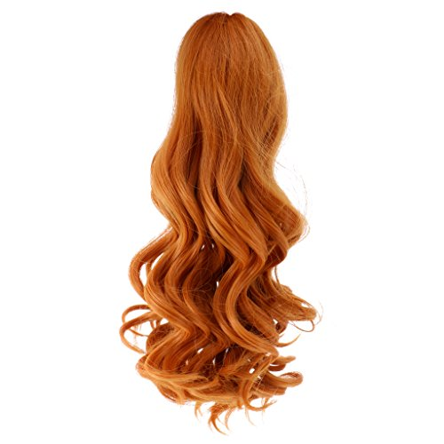uppen Perücke, lockige/ wellenförmige Haarteil Haare für 18 Zoll Puppen Make Up Zubehör - Perücke 7 (Puppe Wie Make-up Halloween)