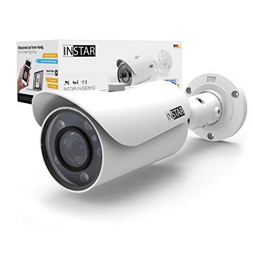 INSTAR IN-5905HD Wlan IP Kamera / Sicherheitskamera für Außen / HD Überwachungskamera / HD IP cam mit LAN & Wlan / Wifi für Outdoor (5 Leistungsstarke IR LEDs, Infrarot Nachtsicht, - Kindle-app Windows Für 7