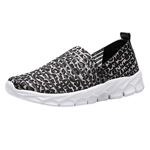Deloito Damen Mode Sneaker Atmungsaktiv Schlüpfen Sportschuhe Schüler Freizeit Weiche Sohlen Turnschuhe Müßiggänger Leichte Laufschuhe (Grau,40 EU) (Verkauf Glas-slipper Für)