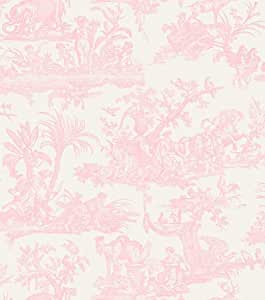 amelia toile de jouy tapete 262994 pale pink k che haushalt. Black Bedroom Furniture Sets. Home Design Ideas