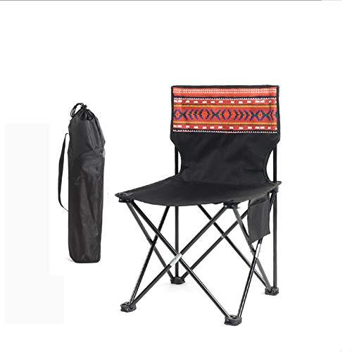 YUWJ Camping hocker Falten tragbare licht Camp hocker im freien billig tragbaren klappstuhl geeignet für Strand Grill Reise Picknick,F,Large