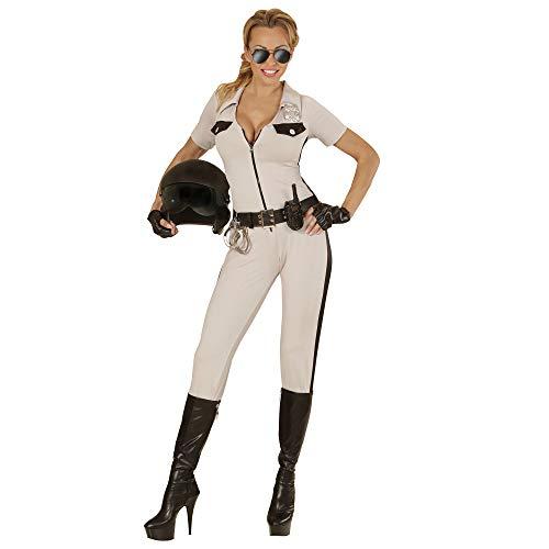 WIDMANN 73983?Adultos Disfraz Agente de Policía Chips Girl, Mono, cinturón, fingerlose Guantes