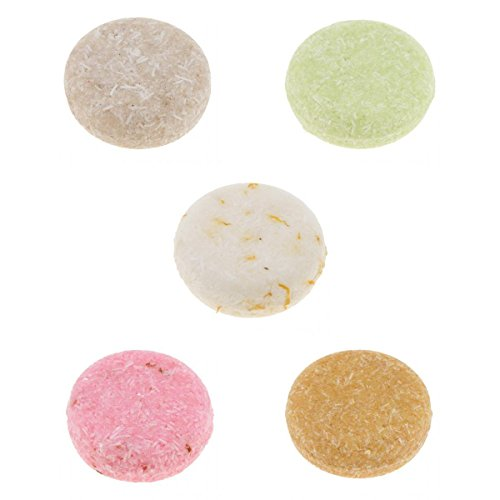 FLAMEER 5x Natürliche Handgemachte Shampoo Bar Gegen Haarausfall Conditioner Shampoo Seife