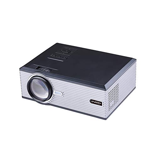 Fulltime E-Gadget Videoprojektor 2500 Lumen mit HDMI USB VGA AV für LED-Projektor Full HD 1080p für Heimkino-Projektor (Schwarz)