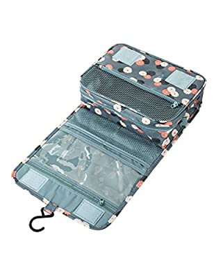 Kinzd® Toiletry Bag For Women - Portable Hanging Personal Organizer Bag - Perfect for Travel/Outdoor