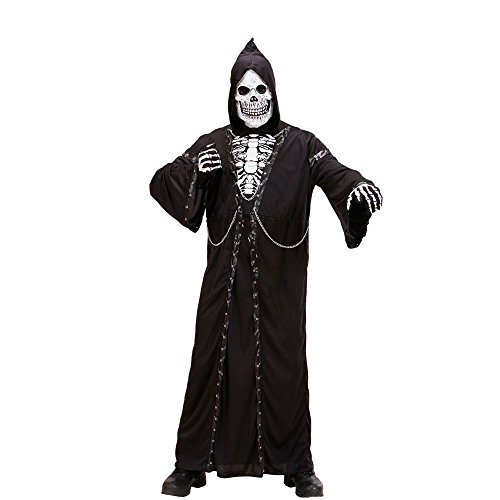 Kapuze Ghost Kostüm - Widmann 73793, Kostüm Set Geist Ghost Halloween Gr. L = 52/54 für Erwachsene