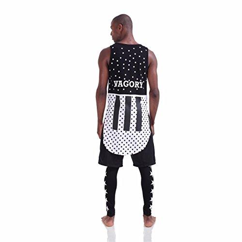 Pizoff Herren Hip Hop High Street Fashion Lang geschnittenes Trägershirt P3198-2