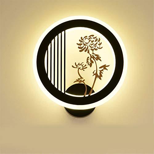 Moderne Applique LED Applique murale Lampe murale lampe de chevet simple nouveau style chinois lampe murale Zen style créatif led rétro restaurant chinois lampe diamètre 28 × hauteur 30 × du mur 3CM