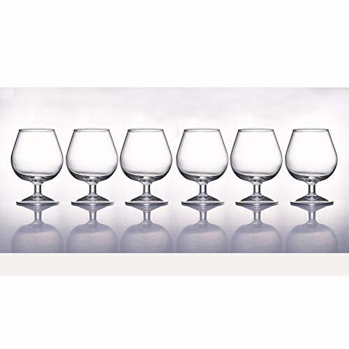 Brandy Glasses Whisky Glasses Crystal Wine Glasses Kelch bleifrei 6er Pack FENGMING (Farbe : Clear-Pack of 6, größe : 250ml) Clear Crystal Brandy