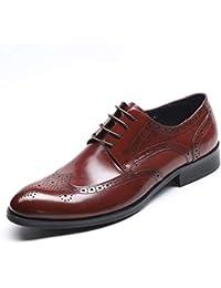 5cfeca66b4e25f TAZAN Herren Leder Brogue Schuhe Elegante Schnürschuhe Oxford Schuhe  Business Casual Derby Schuhe…