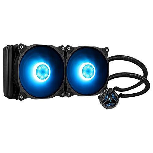 Refrigerador de Agua de CPU de Alto Rendimiento con Ventiladores de 240 mm de bajo Ruido, cojinete dinámico de Fluido, Compatible con Intel y AMD, Compuesto térmico Incluido.