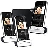 Gigaset SL910 Trio Téléphone tactile sans fil Noir