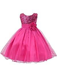 49f6e210f2840 NiSeng Robe Cérémonie Fille Enfant Princesse Mariage Soirée Princesse Robes  Demoiselle D Honneur Sequins Robe