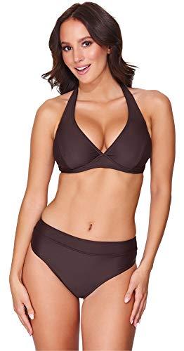 Merry Style Damen Bikini Set 74RN24(Braun(8157), Cup 80 F/Unterteil 40)