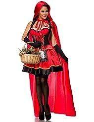 Atixo Sexy Rotkäppchen Kostüm - rot/schwarz