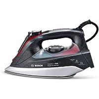 Bosch TDI903239A - Plancha de inyección, vapor constante 65 g/min, supervapor: 200 g, i-Temp advanced, Antibrillo, suela cerámica, 3200 W, color negro/rojo