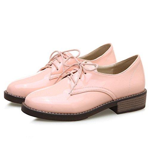 Zanpa Donna Lace Up Pumps Pink
