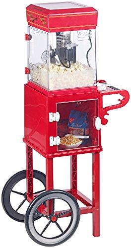 """Rosenstein & Söhne Popcornmaschine Cinema: Profi-Popcorn-Maschine\""""Cinema\"""" mit Rollwagen im Retro-Design (Popcorn-Selbermachen)"""