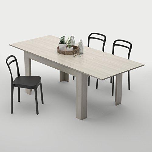 Mobilifiver tavolo allungabile cucina, nobilitato, olmo perla, 140 x 90 x 77 cm
