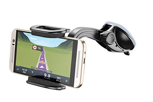 Cellular Line Saugnapfhalterung für Smartphone und Apple iPhone Cellular Smartphone