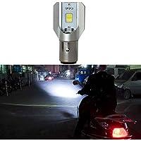 Mengonee LED DC 6V-80V H6 BA20D COB 12W motocicleta Faro alto brillo ahorro de energía de los bulbos de lámparas de motos
