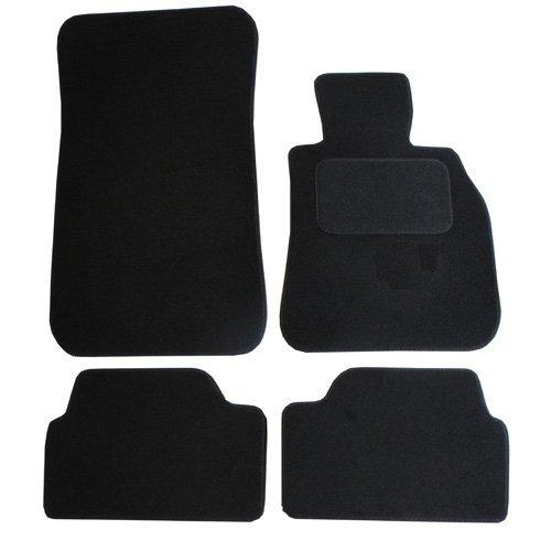 JVL 1032 Alfombrillas para Coche, 4 Unidades, Color Negro