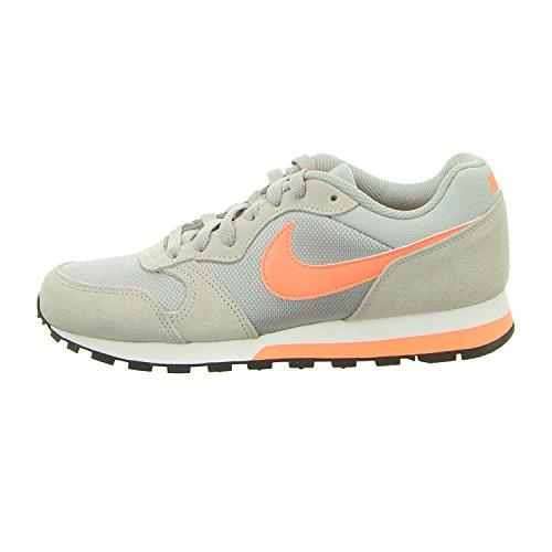 Nike Damen Wmns MD Runner 2 Sportschuhe, Grau/Orange, 40 EU (Schuhe Nike Orange Frauen)