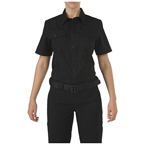 Pdu-streifen (5.11 Tactical Damen Poloshirt Stryke PDU Klasse A kurzärmlig Stretch Style 61016, Damen, schwarz, Small-Tall)