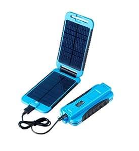 Powertraveller 5V und 12V Tragbares Solar Ladegerät Powermonkey Extreme, Blau, POWE-PMEXT004