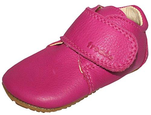 Froddo Leder Babyschuhe Hausschuhe Gummisohle (24, pink)