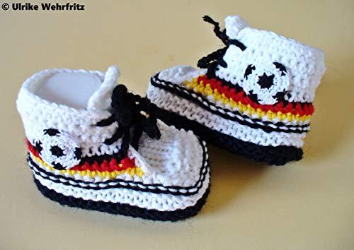 Babyschuhe Fußballschuhe Fussball Deutschland gestrickt gehäkelt