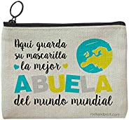 Funda mascarilla regalo ABUELA personalizada guardamascarilla mejor madre mundo mundial