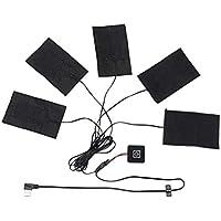 DYS@ 5-I-1 Elektrisk Opvarmning Pad, Opvarmet Mat USB Elektrisk Tøj Temperatur Justerbar Udendørs Mobil Opvarmning... preisvergleich bei billige-tabletten.eu