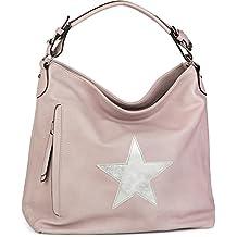 styleBREAKER bolso de mano de tipo «shopper» en apariencia vintage con estrella, bolso