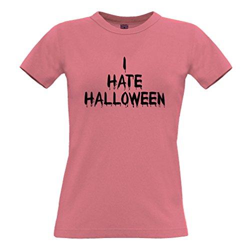 Ich hasse Halloween Slogan Lustige Kürbis-Hexe Kein Kostüm Frauen T-Shirt (Übernatürliche Kostüme)