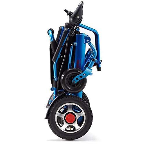41XFSuW5fsL - ZXCASD La Silla De Ruedas Eléctrica Más Fuerte Batería Litio De Cuatro Motores 24 Kg Ancianos Discapacitados Scooter Plegable Portátil Marco De Aluminio