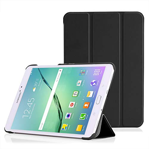 "MoKo Samsung Galaxy Tab S2 8.0 Hülle - Ultra Slim PU Leder Tasche Schutzhülle Schale Smart Case mit Auto Sleep/Wake up Funktion und Standfunktion für Galaxy Tab S2 8.0"" T715N Tablet-PC, Schwarz"
