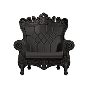 41XFV8n1o3L. SS300  - Design of Love Little Queen of Love Baby Armchair Jet Black