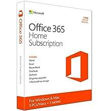 Microsoft Office 365 Hogar - Suites de programas (1 año(s), Inglés, Windows 7 Home Basic,Windows 7 Home Basic x64,Windows 7 Home Premium,Windows 7 Home Premium..., Mac OS X 10.10 Yosemite,Mac OS X 10.6 Snow Leopard,Mac OS X 10.7 Lion,Mac OS X 10.8 Mountain..., 3000 MB, 1024 MB)