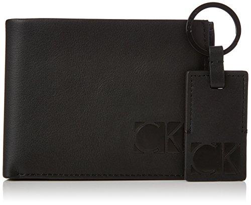 Calvin Klein Herren Hi-Profile (5cc+Coin +Kefyob) Geldbörse, Schwarz (Black), 3x12x20 cm